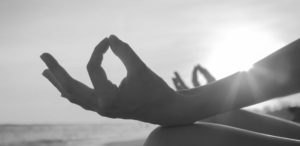 Two hands in Gyan Mudra